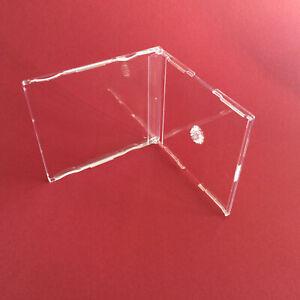 20 st. Maxi CD Leer Hüllen Hülle Slim Case - 7 mm klar - mit Fach für Einleger