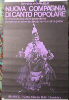 Affiche Originale ✤ Nuova Compagnia di Canto Popolare ✤ Chambéry ✤ 1978