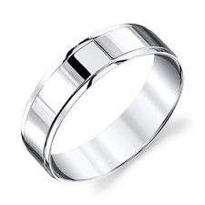 Sterling Silver Mens Wedding Band Ring Comfort Fit by Size 8, 9, 10, 11, 12, 13