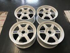 """JDM 15"""" VOLK RAYS TE37 Wheels Rims 4x100 Polished Rare Civic EG EK EM1 15 x 7"""