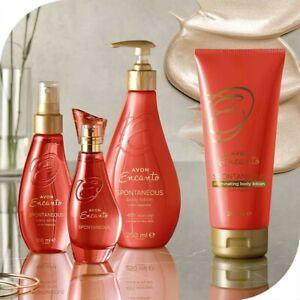 Avon Encanto Spontaneous Perfumed Skincare Range
