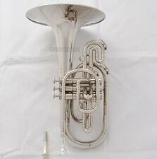 Professional new Model Mellophone F Keys Silver Nickel horn 2-Exchange Mouth