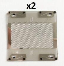 2 X GRILLE POUR RASOIR BRAUN 410 PIECE DETACHEE PART FOIL DE REMPLACEMENT - NEUF