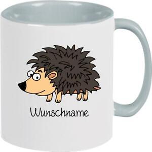 Kindertasse, lustige Tiere Igel mit Wunschnamen, Tasse Pott Kaffeetasse Teetasse