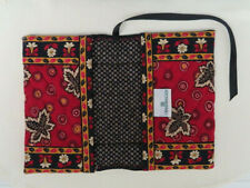 VERA BRADLEY RED COIN BOOK COVER Retired Quilted Cotton Fabric NWOT