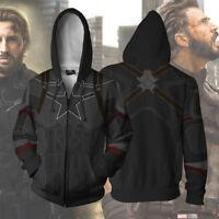 Avengers 3 Infinity War Captain America hoodie Sweatshirt Cosplay Costume coat