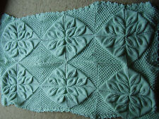 Baby's Shawl and pram cover  leaf pattern PATTERN.ONLY