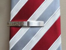 Personalized Tie Clip- Tie Bar Monogrammed- Groomsmen- Dad- Gifts for Men(T-05)