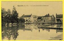 cpa 77 Village d' ÉGREVILLE (Seine et Marne) Le LAVOIR COMMUNAL et l' ABREUVOIR