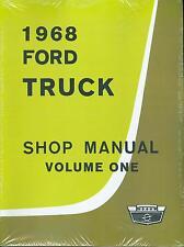 1968  FORD  TRUCK SHOP MANUAL-ALL MODELS-2 BOOK SET