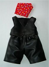 THE BIKER 3pce OUTFIT - FITS TEDDY BEARS 16 INCH / 40cm TALL – MADE IN ENGLAND