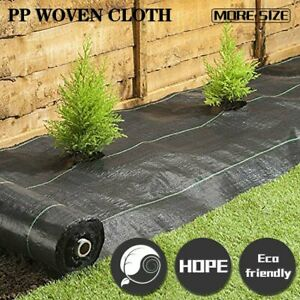 Weedmat Weed Control Mat Matting Woven Fabric Plant PE Garden Cover 30/50/100m