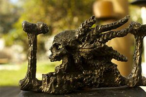 Handmade Bronze Pirate Skull Belt Buckel,