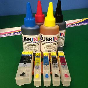 5x Refillable Recyclable Cartridges Ink For Epson  XP625 XP720 XP810 XP820 XP825
