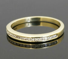 9Carat Yellow Gold Half Eternity Diamond 0.15ct Wedding Band (Size P 1/2) 2mm