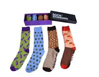 Unisex Sock Sox Novelty Stance PURPLE Funky Party Casual Formal Gift Box Colour