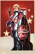 NUKA COLA ~ Rocket Bottle Babe! ~ 24x36 Fallout 4 Advertising Poster ~ NEW!