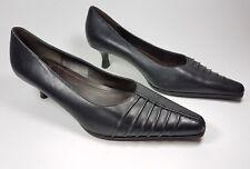 Zapatos de Cuero Clarks Negro Talón Mediados Gatito UK 5 EU 38