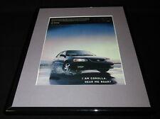 2000 Toyota Corolla Framed 11x14 ORIGINAL Vintage Advertisement