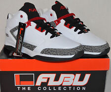 NEW Mens Size 9 FUBU The Collection White Mid-Ankle Sneaker Shoe