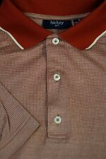Hickey Freeman Men's Red Golden Pearl Cotton Golf Polo Shirt S Small