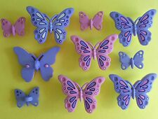 Vestido de verano sweet Mariposas-Rosa Lila Mariposa Jardín para arriba Craft Botones
