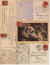 Lot 5 cartes postales timbrées timbres SUISSE SCHWEIZ 10 c 1921 1916 1920 1927