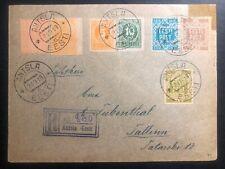 1919 Antsla Estonia Registered Cover to Tallinn First Stamp Issue SC# 1-4