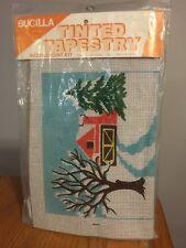 Vtg Bucilla Needlepoint Tapestry Kit Christmas Winter Farm Barn