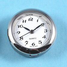 Premium 24mm argent lunette montre à quartz insert mouvement free post