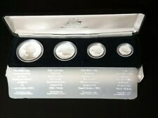 1988 Masterpieces in Silver Proof Coin Set -$5, $2, $1 & 50¢ in sterling silver