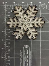Vintage Marching Band Letterman Jacket Aplique Patch Winter Snowflake Glitter