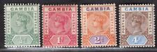 GAMBIA 1898 STAMP Sc. # 20/2 AND 25 MH