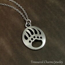 Silver Bear Claw Charm Necklace - Bear Paw Native American Southwestern Pendant