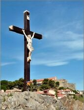 """""""Jesus On the Cross...The Calvary of Collioure in France"""" {Postcard} (T7)"""