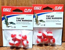 """☆ Best Deal ☆ 2x 6pk 1/2"""" Eagle Claw Tip Up Markers For Ice Fishing - Fast Ship"""
