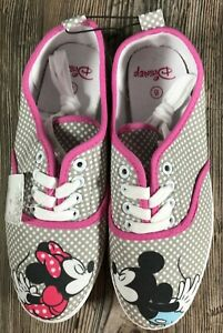 Disney Mickey & Minnie Sneakers Women's Size 8 Limited Edition polka dot canvas