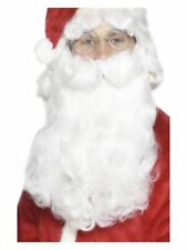Mens Deluxe White Santa Beard Father Christmas Fancy Dress Accessory