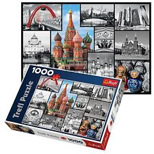 Trefl 1000 Piece Adult Large Moscow Kremlin Red Square Collage Jigsaw Puzzle NEW
