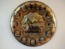 Vintage Hand Made Egyptian Sphinx Pyramid Metal Wall Hanging Plate Wall Art
