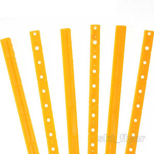 5pcs 15cm Yellow Plastic Strip Frame Shaft Axis Connector Robotic Toy Car Model