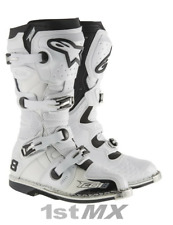 Alpinestars Tech 8RS 8 RS MX Motocross Offroad Race Boots White Adult UK10 US11
