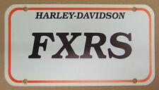 Werbung Fahrzeug Deko original Harley ca.20,9x11,2cm FXRS Low-Glide 1984