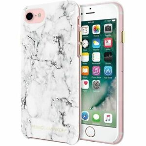 Designer Rebecca Minkoff marble foil phone case cover for iPhone 7 Plus
