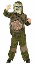 Chicos Halloween Sangriento Zombie expuestos agallas monstruo vestido de fantasía Traje de Disfraz
