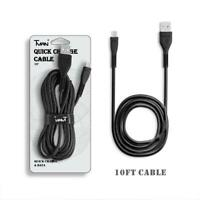 10FT Braided Nylon USB-C Cable Fast Charger Type-C Cord for Samsung Smartphones