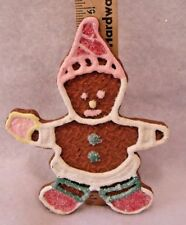 """Large 5.75"""" Gingerbread Cookie Boy Christmas Tree Ornament Loaded W/ Glitter"""