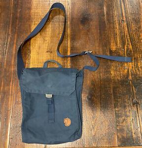 Fjallraven Ornskoldsvik G-1000 Blue Canvas Travel Crossbody Messenger Bag Rare