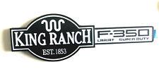 NEW WHITE F350  KING RANCH LARIAT Fender Tailgate Emblem Badge For Ford F350