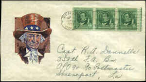 WWII Patriotic Uncle Sam Ioor GP-19 Cachet Sherman Unlisted Spet 1943